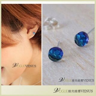【維克維娜】璀璨時刻。海洋水藍寶石925純銀耳環