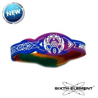 【第六元素】IEB負離子高能量手環(531 藍紫迷彩)