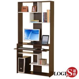 【LOGIS】質感宅多功能層架式電腦桌櫃/展示櫃