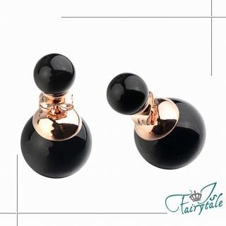 【伊飾童話】華麗珍珠*雙面穿搭耳環/三色可選