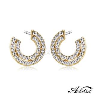 【STEVEN YANG】正白K飾「優美女孩」耳針式耳環 KG4055(金色)