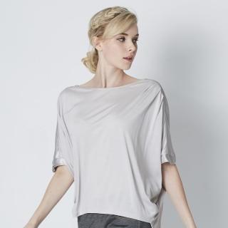 【矜蘭妃】100%蠶絲質感緞造歐美訂製款上衣(超值二件組)