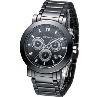 【Diadem】黛亞登 爵士雅痞陶瓷計時腕錶(8D1407-631D-D)