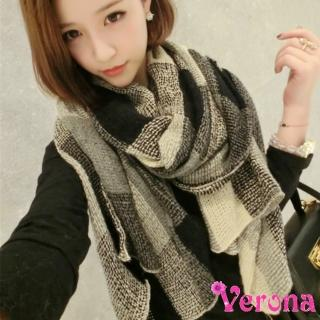 【Verona】明星款蓬鬆復古風薄款針織毛線圍巾披肩圍脖(限量款)