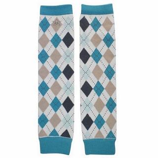 【Huggalugs】藍灰菱格手襪套 Dapper Argyle