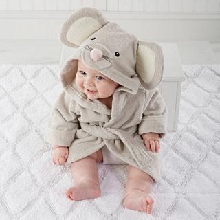 【BabyAspen】BAS 小小老鼠嬰兒浴袍/長袍 彌月禮(#BA14029NA)