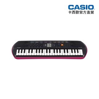 【CASIO卡西歐原廠】44鍵迷你電子琴兒童.幼兒適用SA-78(粉紅色含變壓器)