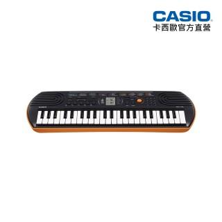 【CASIO卡西歐原廠】44鍵迷你電子琴兒童.幼兒適用SA-76(橘色含變壓器)