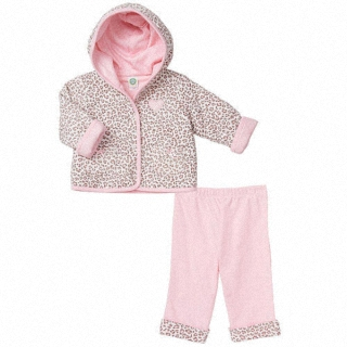【Little Me】長袖連帽外套+長褲 套裝2件組-粉紅豹紋 款(#LCG02783N)