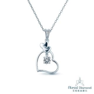 【Alesai 艾尼希亞鑽石】0.50克拉 鑽石項鍊(Ariel系列 APF08-50)