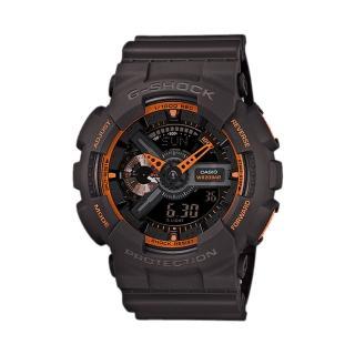 【CASIO 卡西歐 G-SHOCK 系列】重機多層次錶盤造型錶(GA-110TS)
