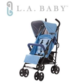 【美國 L.A. Baby】時尚輕便嬰兒手推車-藍色(共三色可選)