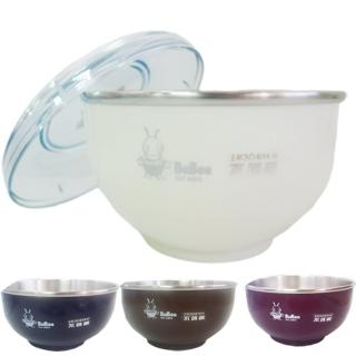 【香醇】不銹鋼雙層隔熱碗-不銹鋼蓋-14cm×4組