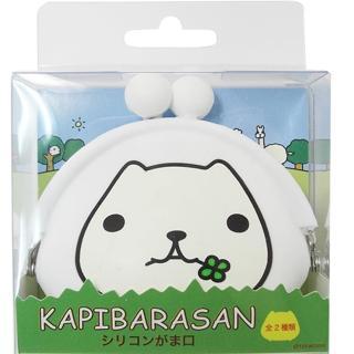 【kapibarasa】水豚君幸運草橡膠珠扣包