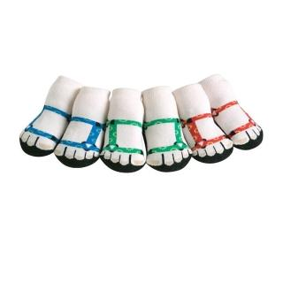【美國 Jazzy Toes】時底y型棉襪-止滑襪-假鞋襪_三入禮盒組_登山夾腳托組(JT3-09)