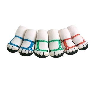 【美國 Jazzy Toes】時尚造型棉襪/止滑襪/假鞋襪_三入禮盒組_登山夾腳托組(JT3-09)