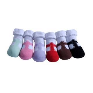 【美國 Jazzy Toes】時尚棉襪/止滑襪/假鞋襪_六入禮盒組_T 造型瑪莉珍(JT6-15)
