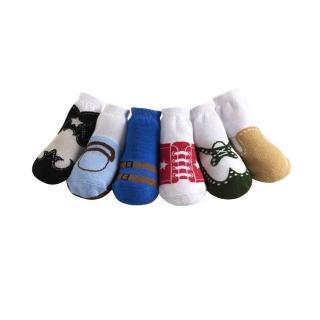 【美國 Jazzy Toes】時尚棉襪/止滑襪/假鞋襪_六入禮盒組_基本綜合組/1(JT6-16)