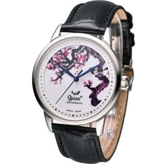 【Ogival】愛其華 微砌彩繪機械腕錶-梅(1929-24.1AGS)