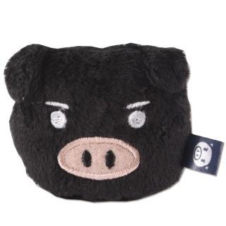 【UNIQUE】可愛豬造型磁鐵(黑色)