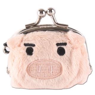 【UNIQUE】可愛豬造型小珠扣包(膚色)