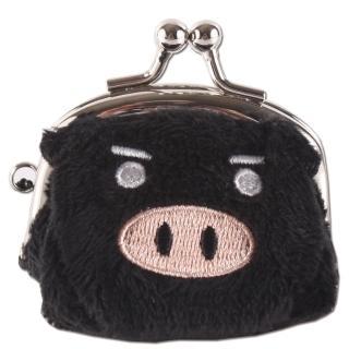 【UNIQUE】可愛豬造型小珠扣包(黑色)