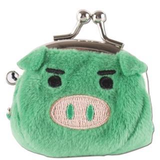 【UNIQUE】可愛豬造型小珠扣包(綠色)