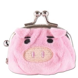 【UNIQUE】可愛豬造型小珠扣包(粉紅色)