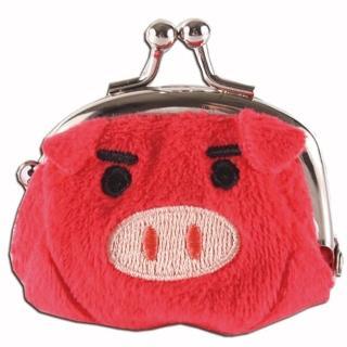 【UNIQUE】可愛豬造型小珠扣包(紅色)