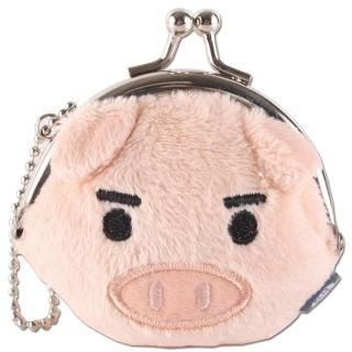 【UNIQUE】可愛豬迷你臉型珠扣包