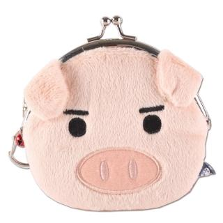 【UNIQUE】可愛豬臉型珠扣包