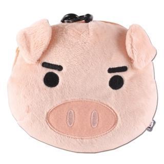 【UNIQUE】可愛豬臉型車票包