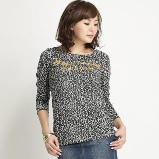 【BOBSON】女款印豹紋長袖上衣(黑31090-01)