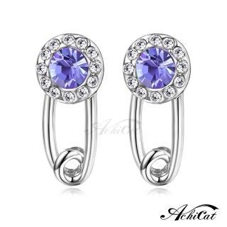 【STEVEN YANG】正白K飾「唯美焦點」耳針式耳環 KG4085(銀色紫水晶)