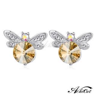 【STEVEN YANG】正白K飾「甜美蜻蜓」耳針式耳環 KG4086(銀色香檳金)