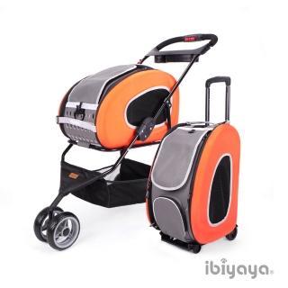 【IBIYAYA依比呀呀】五彩繽紛寵物推車提包組-亮橘(FS1009)