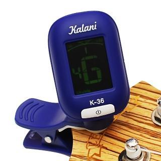 【拓弦音樂】Kalani 烏克麗麗/吉他 5合1雙色冷光調音器/藍色+加贈 PICK(K36-藍+3P)