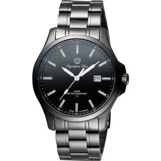 【Olympia Star】夜鷹系列T25時尚腕錶-IP黑/40mm(58054TMB)