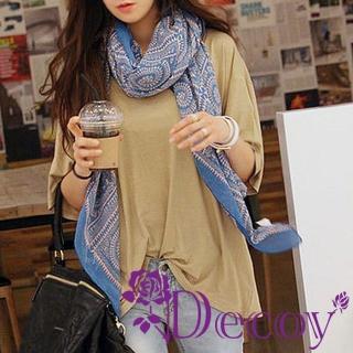 【Decoy】埃及圖騰*輕柔雪紡圍巾/二色可選