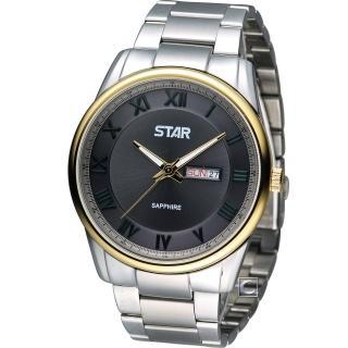 【STAR】時代 純粹簡約紳士腕錶(1T1407-211YG-GR)