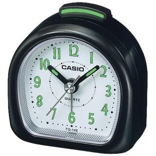 【CASIO 卡西歐】指針型電子音鬧鈴鬧鐘(黑-TQ-148-1DF)
