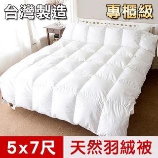【凱蕾絲帝】台灣制造-耐寒5℃純天然羽絨被(單人5*7尺)