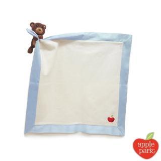 【美國 Apple Park】有機棉玩偶隨身毯 - 小熊
