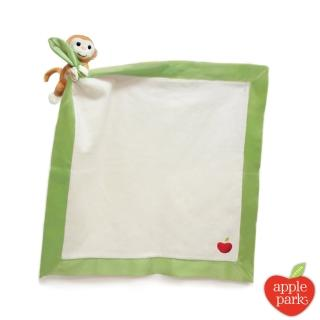 【美國 Apple Park】有機棉玩偶隨身毯 - 小猴子
