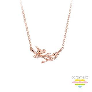 【彩糖鑽工坊】桃樂絲 Doris系列 玫瑰金項鍊(925純銀鍍玫瑰金 HAG-PS14)