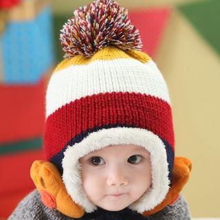 【韓版】可愛條紋熊掌兒童護耳毛帽