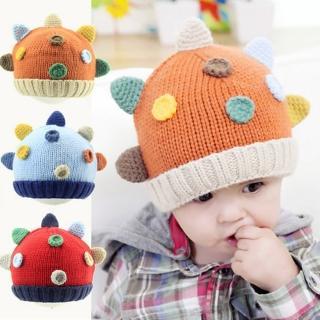 【韓版】3D小恐龍造型兒童毛帽