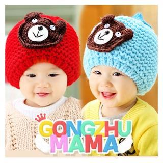 【韓版】秋冬小熊造型兒童毛帽