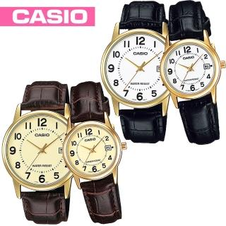 【CASIO 卡西歐】日系-甜蜜情人對錶(MTP-V002GL+LTP-V002GL)