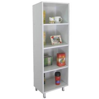 【美佳居】美背式4格-高腳書櫃/置物櫃/收納櫃(三色可選)